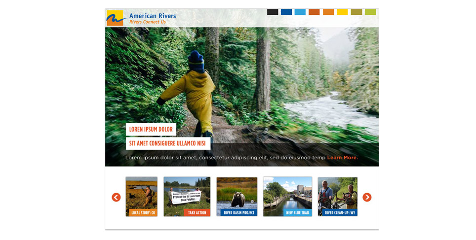 American Rivers Website Redesign Moodboard
