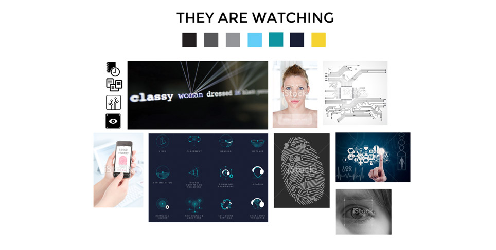 ACLU Washington - They Are Watching - Moodboards